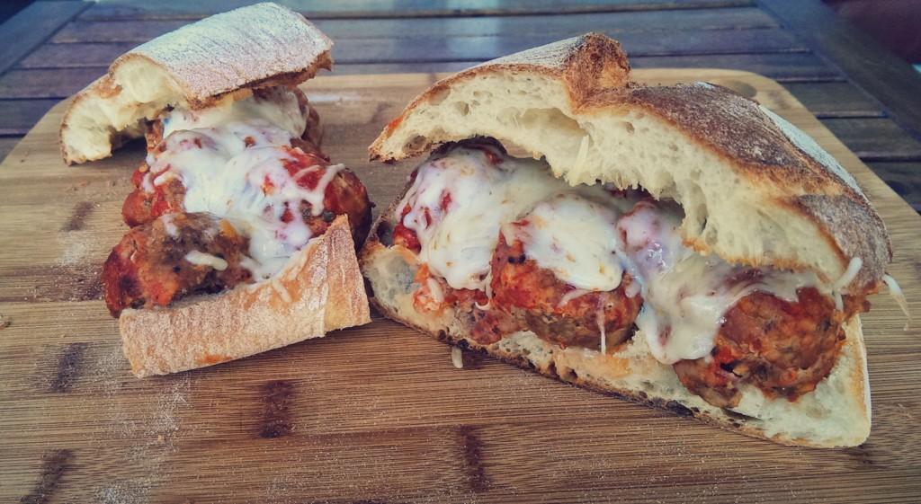 Muffaletta Meatball Sandwich