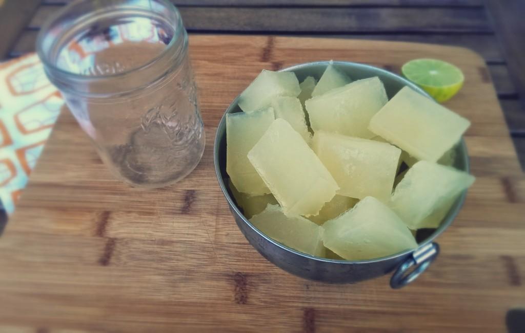 lime cubes frozen